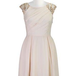 eShakti BEADED CREPE A-LINE DRESS size 12